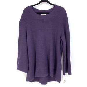 Style & Co plus Size Sweater Flared Sleeve Purple